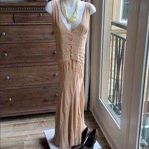 Gorgeous nude DKNY silk dress